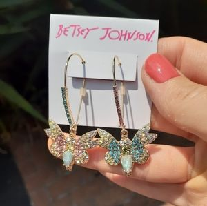 Betsey Johnson Spring Butterfly Earrings